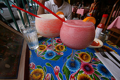 Piña Colada and Blackberry Daquiri from La Coc...