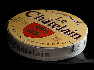Camembert cheese box