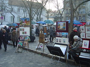 Paris Montmartre Place du Tertre dsc07247